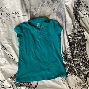 Fades glory turquoise collared shirt